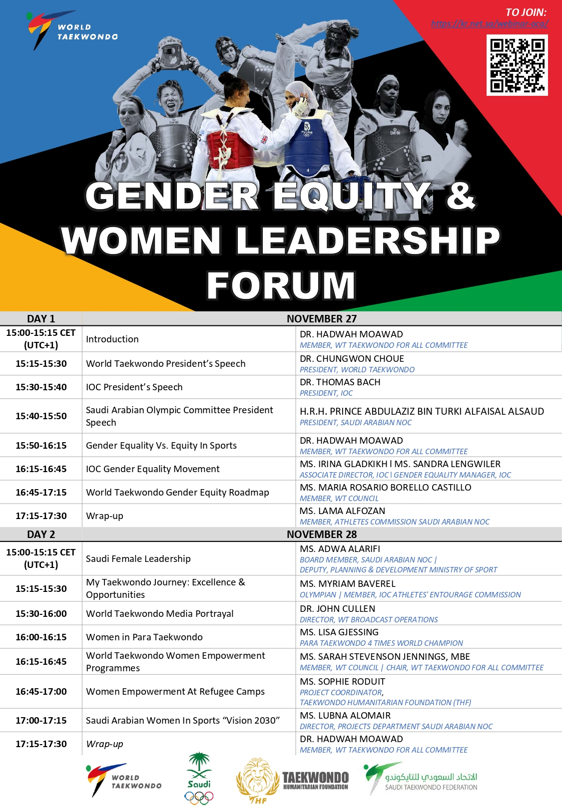 1st WT Gender Equity and Women Leadership Forum