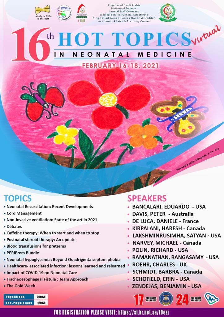 16th Hot Topics in Neonatal Medicine