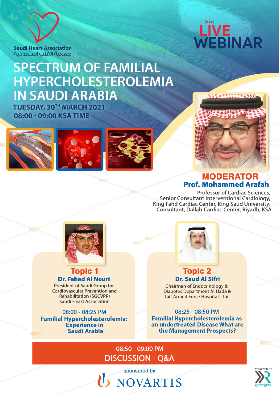 SPECTRUM OF FAMILIAL HYPERCHOLESTEROLEMIA IN SAUDI ARABIA
