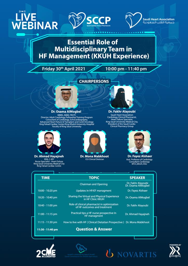 Essential Role of Multidisciplinary Team in HF Management (KKUH Experience)