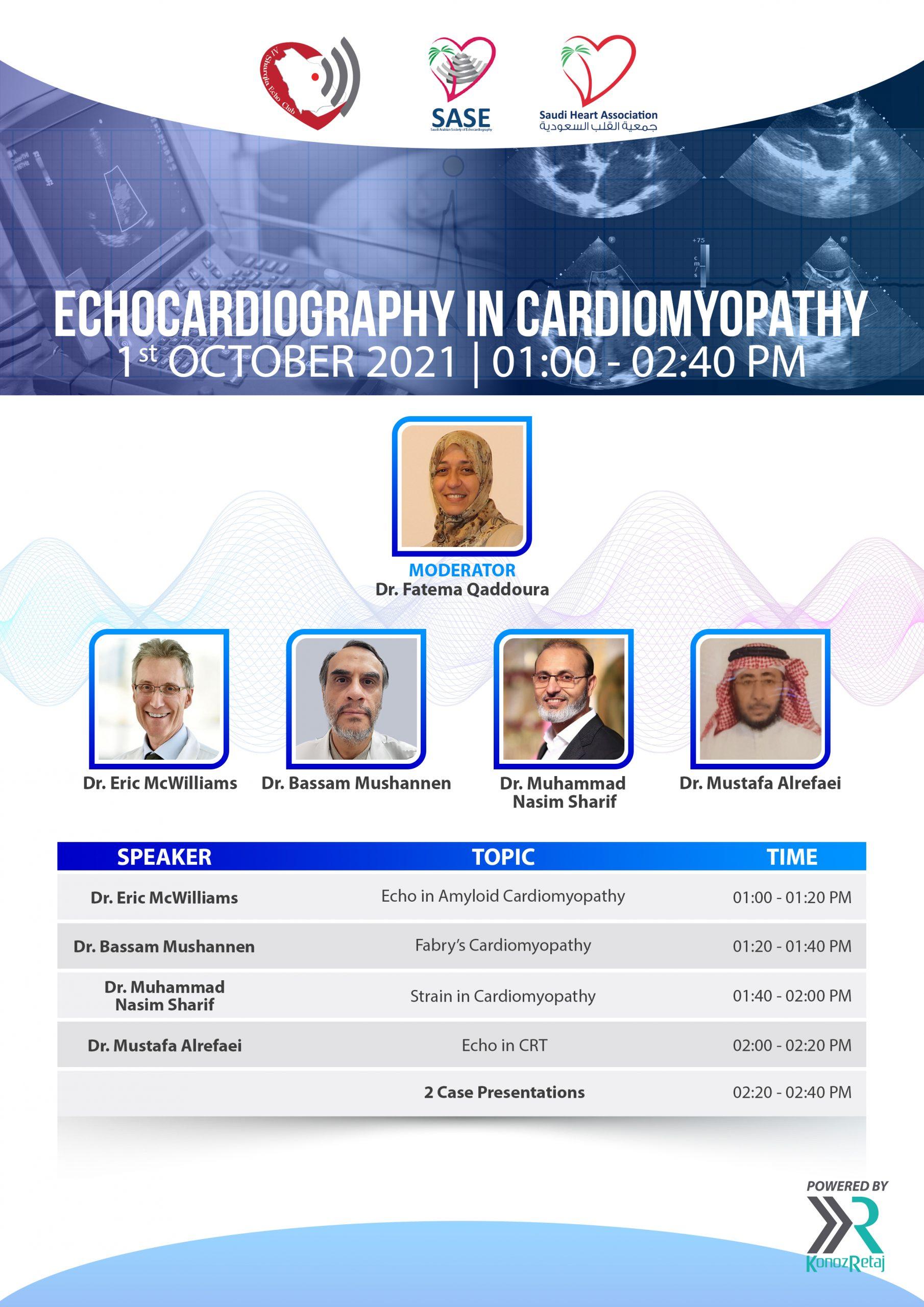 ECHOCARDIOGRAPHY IN CARDIOMYOPATHY